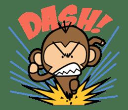 Funny monkey 2 sticker #2587475