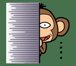 Funny monkey 2 sticker #2587486