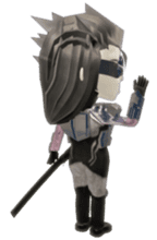 Sticker of ninja of the future 3D sticker #2589608