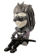 Sticker of ninja of the future 3D sticker #2589617