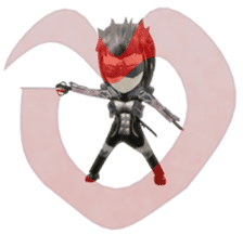 Sticker of ninja of the future 3D sticker #2589622
