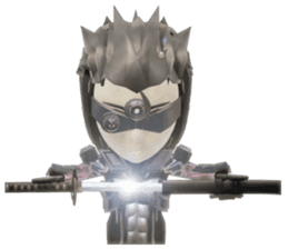 Sticker of ninja of the future 3D sticker #2589624