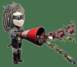 Sticker of ninja of the future 3D sticker #2589633