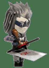 Sticker of ninja of the future 3D sticker #2589635