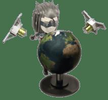 Sticker of ninja of the future 3D sticker #2589646