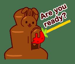 Chocolate Rabbit sticker #2603467