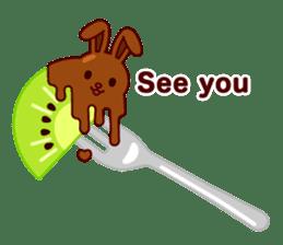 Chocolate Rabbit sticker #2603470