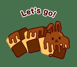 Chocolate Rabbit sticker #2603476