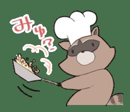 common raccoon sticker #2604892