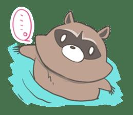 common raccoon sticker #2604896