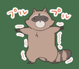 common raccoon sticker #2604915