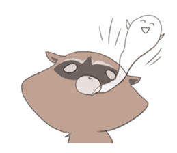 common raccoon sticker #2604919