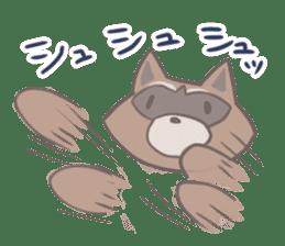 common raccoon sticker #2604921