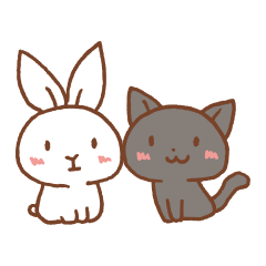 W-rabbit and B-cat 's best friend