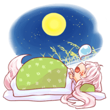 hyakko tan the fox girl sticker #2622778