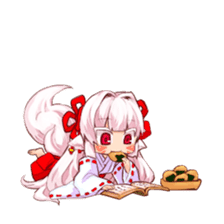 hyakko tan the fox girl sticker #2622797