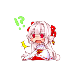 hyakko tan the fox girl sticker #2622802