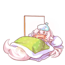 hyakko tan the fox girl sticker #2622806