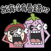 สติ๊กเกอร์ไลน์ Fruit Couple Love 2