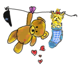 Rossy the Bears & Yorkie Coco I (Eng) sticker #2651605