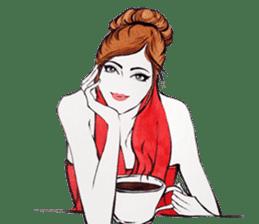 flirty xoxo girl sticker #2660276