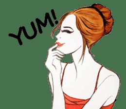 flirty xoxo girl sticker #2660291