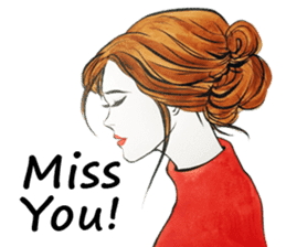 flirty xoxo girl sticker #2660297