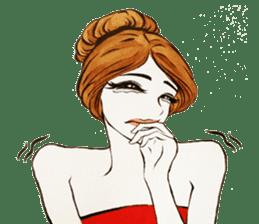 flirty xoxo girl sticker #2660309