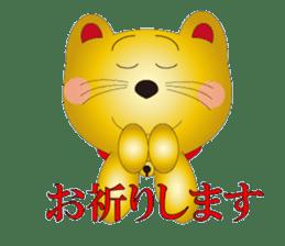 Happy Beckoning gold cat vol.2 sticker #2666629