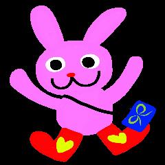 Pink rabbit USAKO