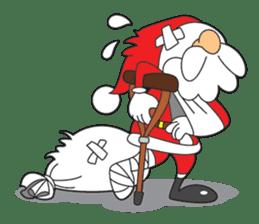 Lazy Santa Claus sticker #2671996