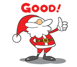 Lazy Santa Claus sticker #2672002