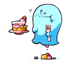 Happy ghosts sticker sticker #2673538