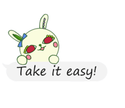 The rabbit of a red eye (English ver.1) sticker #2675418