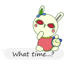 The rabbit of a red eye (English ver.1) sticker #2675436