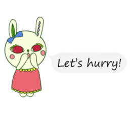 The rabbit of a red eye (English ver.1) sticker #2675440