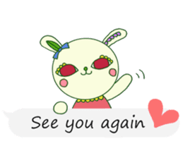 The rabbit of a red eye (English ver.1) sticker #2675446