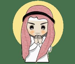 Arab guy , Keffiyeh lover (Arabic ver.) sticker #2678094