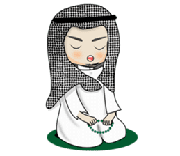Arab guy , Keffiyeh lover (Arabic ver.) sticker #2678099