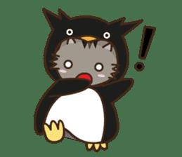 Cat wanna be Penguin sticker #2682744
