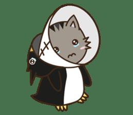 Cat wanna be Penguin sticker #2682759