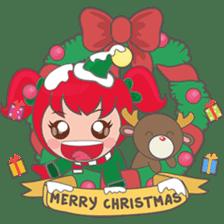 Mira, christmas girl sticker #2685891