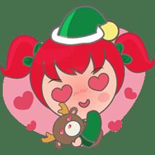 Mira, christmas girl sticker #2685892