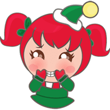 Mira, christmas girl sticker #2685894