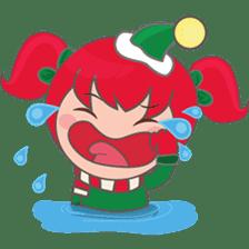Mira, christmas girl sticker #2685895