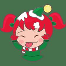 Mira, christmas girl sticker #2685896