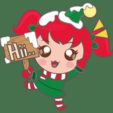 Mira, christmas girl sticker #2685901