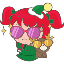 Mira, christmas girl sticker #2685903