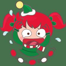 Mira, christmas girl sticker #2685906