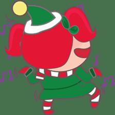 Mira, christmas girl sticker #2685910